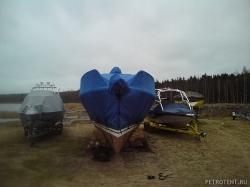 Транспортировочный тент на катер Рубин